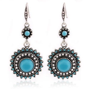 Fashion Bohemian Ancient Jewelry Sunflower Shape Alloy Earrings for Women pictures & photos