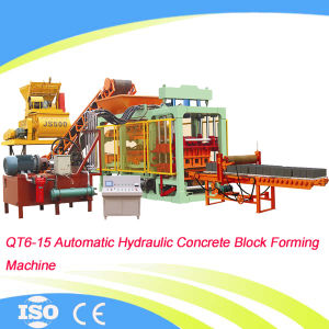 Full Automatic Hydraulic Cement Block Making Machine (QT6-15) pictures & photos