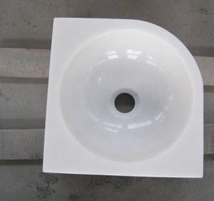 Sanitary Ware Bathroom Sink, Polished White Marble Basin pictures & photos