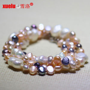 Latest Design Big Baroque Freshwate Pearl Necklace Jewelry pictures & photos