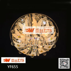 Modern Round Crystal Glass LED Ceiling Lamp Price (YF655/R5)