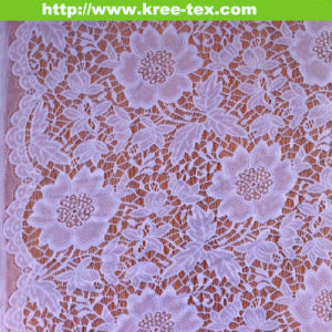 Nylon Scallop All Over Mesh Lace for Wedding Dress 629