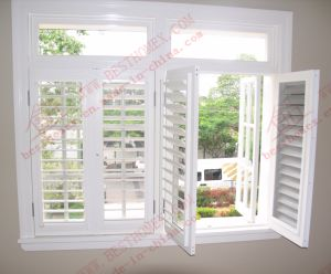 Classical UPVC Plantation Shutter Window Systems (BHP-SCW03) pictures & photos