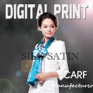 Digital Print of Satin Fabric on Scarves (M025) pictures & photos