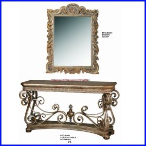 Antique Wooden Console Table with Mirror S-1601#