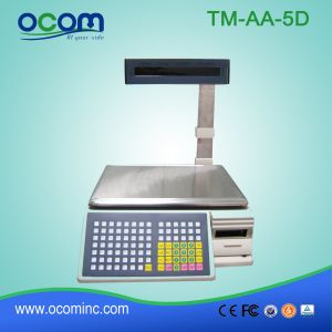 TM-AA-5D 30kg Weighing Scale with Price Label Printer for Supermarket pictures & photos
