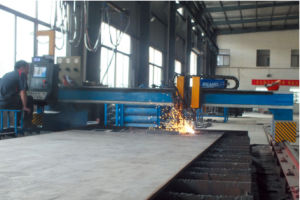 High Effeciency CNC Flame Cutting Machine for Section Steel Production pictures & photos