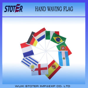 Cheap Polyester Hand Waving Held Flag, Promotional Hand Flags pictures & photos