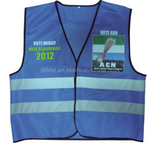 High Visibility Reflective Safety Vest with Logo Printing (DFV1002) pictures & photos