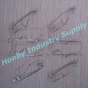 High Quality 32mm Nickel Steel Crimp Safety Pin for Garment Accessory in Stocks in China
