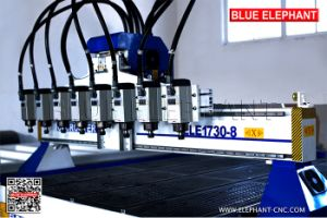 Ele-1730 Multipurpose 8 Axis Woodworking CNC Machine, 8 Spindles Wood CNC Router From China pictures & photos