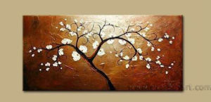 Modern Canvas Art Abstract Tree Oil Painting (FL1-021) pictures & photos