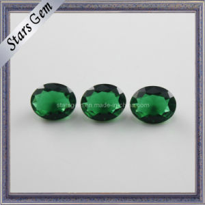 Emerald Oval Shape Glass Beads pictures & photos