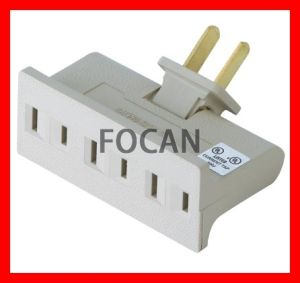 Grounding Wall Tap, UL Swivel Outlets, 6 Outlet Wall Adapter, (FC-16105) pictures & photos