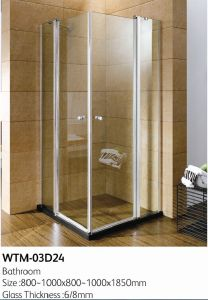 Double Folding Shower Door High Quality Shower Room Wtm-03D24 pictures & photos