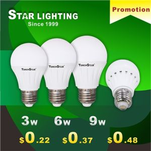 New Plastic A60 6W LED Bulb pictures & photos