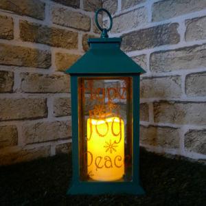 Big Xmas Green Direction Lamp
