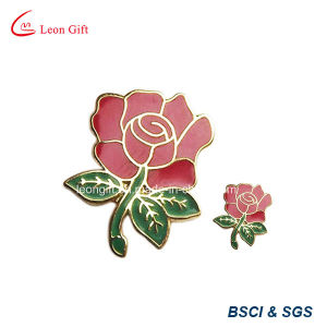 Custom Wholesale Glitter Rose Gold Badge Lapel Pin pictures & photos