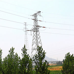 110 kV Angle Steel Power Transmission Tower (corner tower) pictures & photos