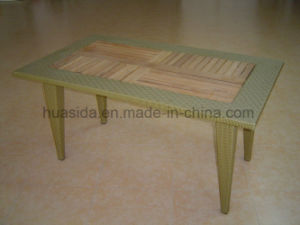 Outdoor Rectangular Long Dining Table with Teak Top pictures & photos