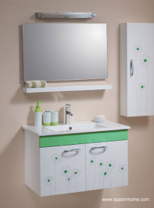Lacquer HPL Bathroom Cabinets / Lacquer Bathroom Cabinet (OP-W1231-80)