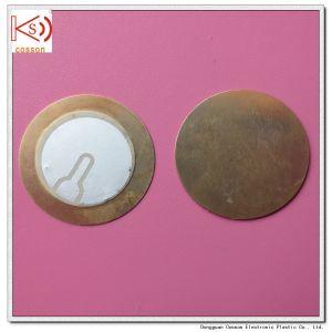 27mm Piezo Ceramic Element 3pin Iron Brass Pieze Buzzer pictures & photos