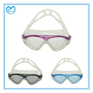 Anti Slip Silicone Mirrored PC Swimming Glasses for Kids pictures & photos