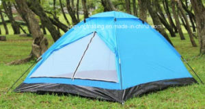 4 Persons Waterproof Polyester Single-Skin Camping Tent (JX-CT018) pictures & photos