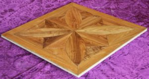 UV Finished Teak Art Parquet Wooden Flooring (A001-1) pictures & photos