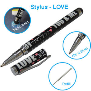Ballpoint Pen Metal Stylus Pen 2 in 1 Love Stylus for Touch Panel Equipment pictures & photos