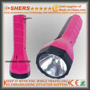 Rechargeable 1W LED Flashlight with Built-in Adapter for Searching (SH-1938) pictures & photos