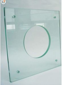 3-19mm Toughened Glass From 300X300 to 3300X4500mm with Polished Edges/ Holes/ Silkscreen printing pictures & photos