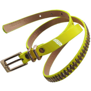Girls′ PU Leather Belt for Garment (BE-13011) pictures & photos