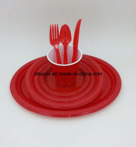 Disposable Plastic Color Party Supply Tableware pictures & photos