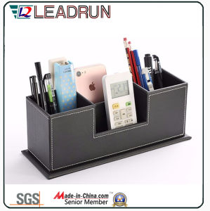 Contain Storage Collection Wooden Gift Tissue Pen Stationery Box with Leather Specail Paper (YLS81) pictures & photos