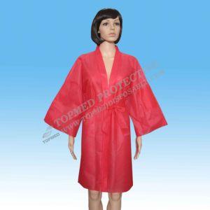 SPA Kimono Red Disposable SPA Kimono Non Woven pictures & photos