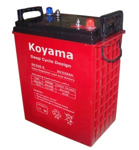 Reliable Quality VRLA Deep Cycle Floor Machine Battery DC330-6 (330ah 6V) pictures & photos