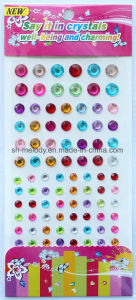 Round Rhinestone Stickers/Acrylic Sticks/Mobile Phone Stickers pictures & photos