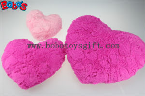 Valentine Gift Plush Soft Heart Pillow Cushion in Pink and Hot Pink Color pictures & photos