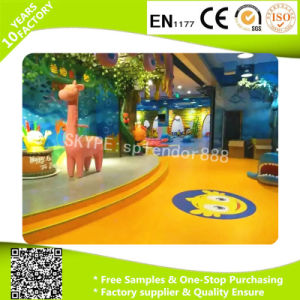 Fireprotection Layer PVC Flooring Rolls for Children Plagyround pictures & photos