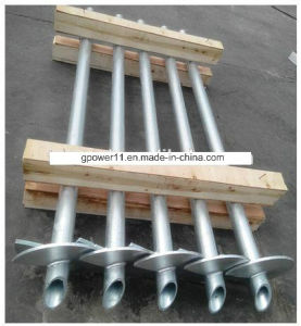 Round Shaft Earth Screw Pile Screw Anchor pictures & photos