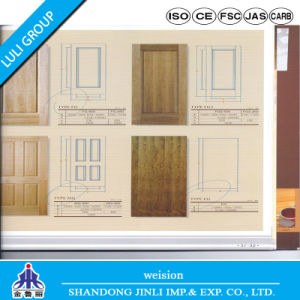 HDF/MDF 3mm Natural Teak Veneer Molded Door Skin pictures & photos