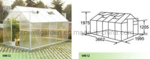 Polycarbonate Panel and Aluminium Hobby Greenhouse (W612) pictures & photos
