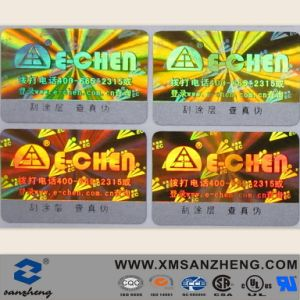 Custom Tamper Red Evident Fragile Holographic Void Warranty Security Seal Sticker pictures & photos