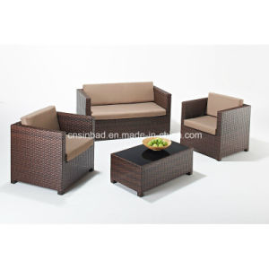 Outdoor Rattan Sofa with Steel Pipe (603) pictures & photos
