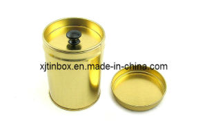 Round Tea Tin/Round Tea Tin Box/Round Tea Tin Can with Inter Lid with Handle (XJ-041Y)