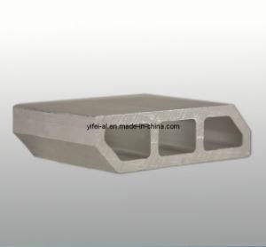 Aluminum/Aluminium Alloy 6063 Extrusion Anodized Textile Profile pictures & photos