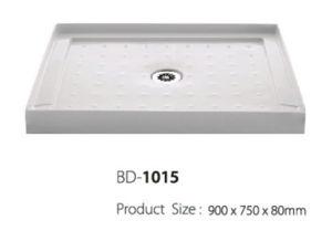 Center Drain Three Fanlges Mini Shower Base (BD-1015) pictures & photos