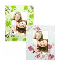 Beautiful Flowers Surround Glass Photo Frame (GP14017)
