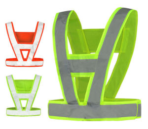 Thick V Shape Reflective Traffic Police Ride Clothes Safety Sanitation Construction Vest pictures & photos